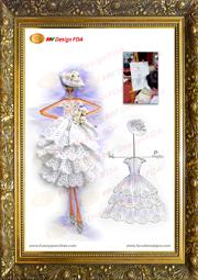Mẫu vẽ phác thảo chung kết Cuộc thi thiết kế thời trang 2013