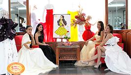Học viên làm đồ án môn học Thiết kế trang phục dạ hội - Đầm cưới