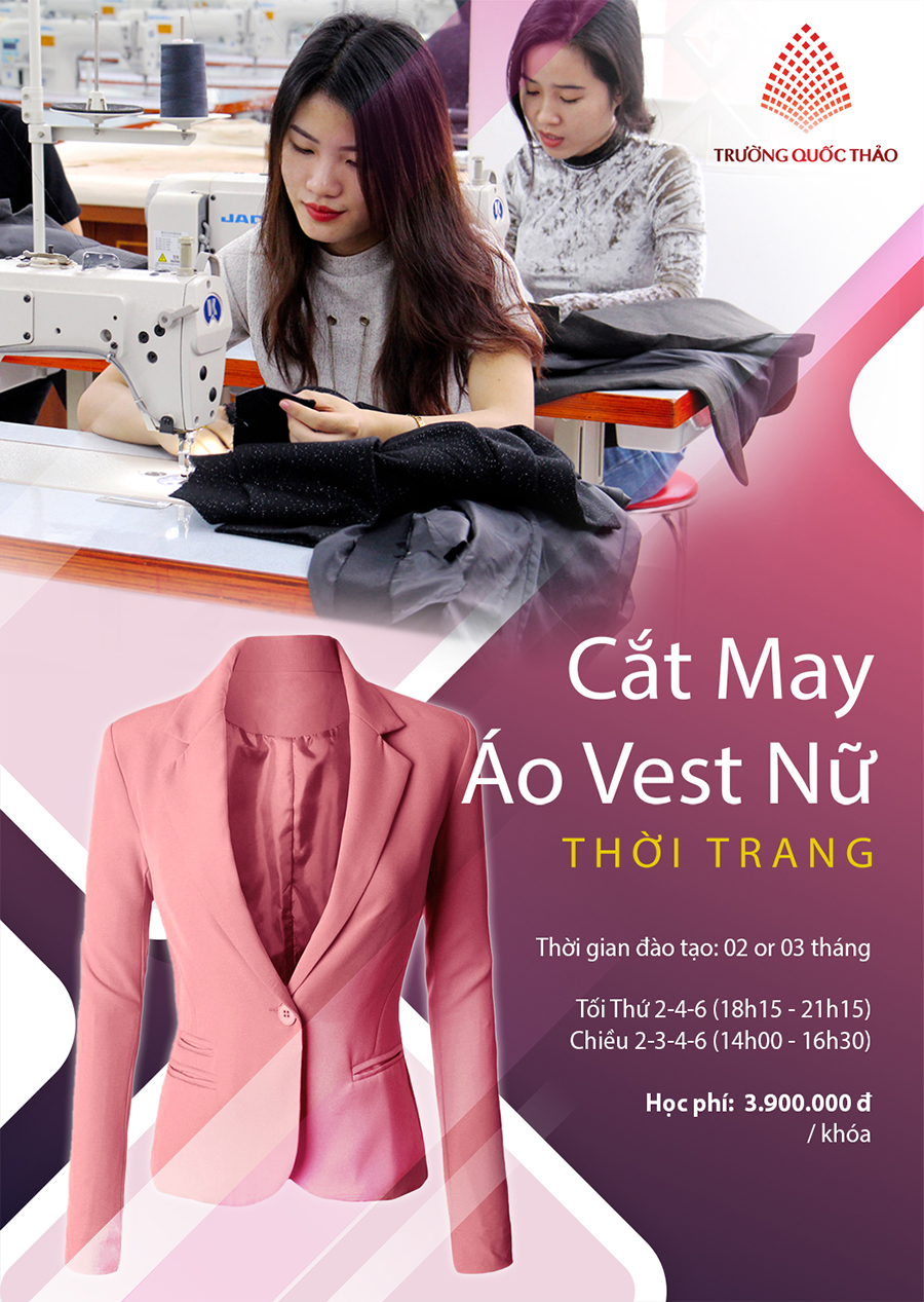 day cat may ao vest nu thoi trang
