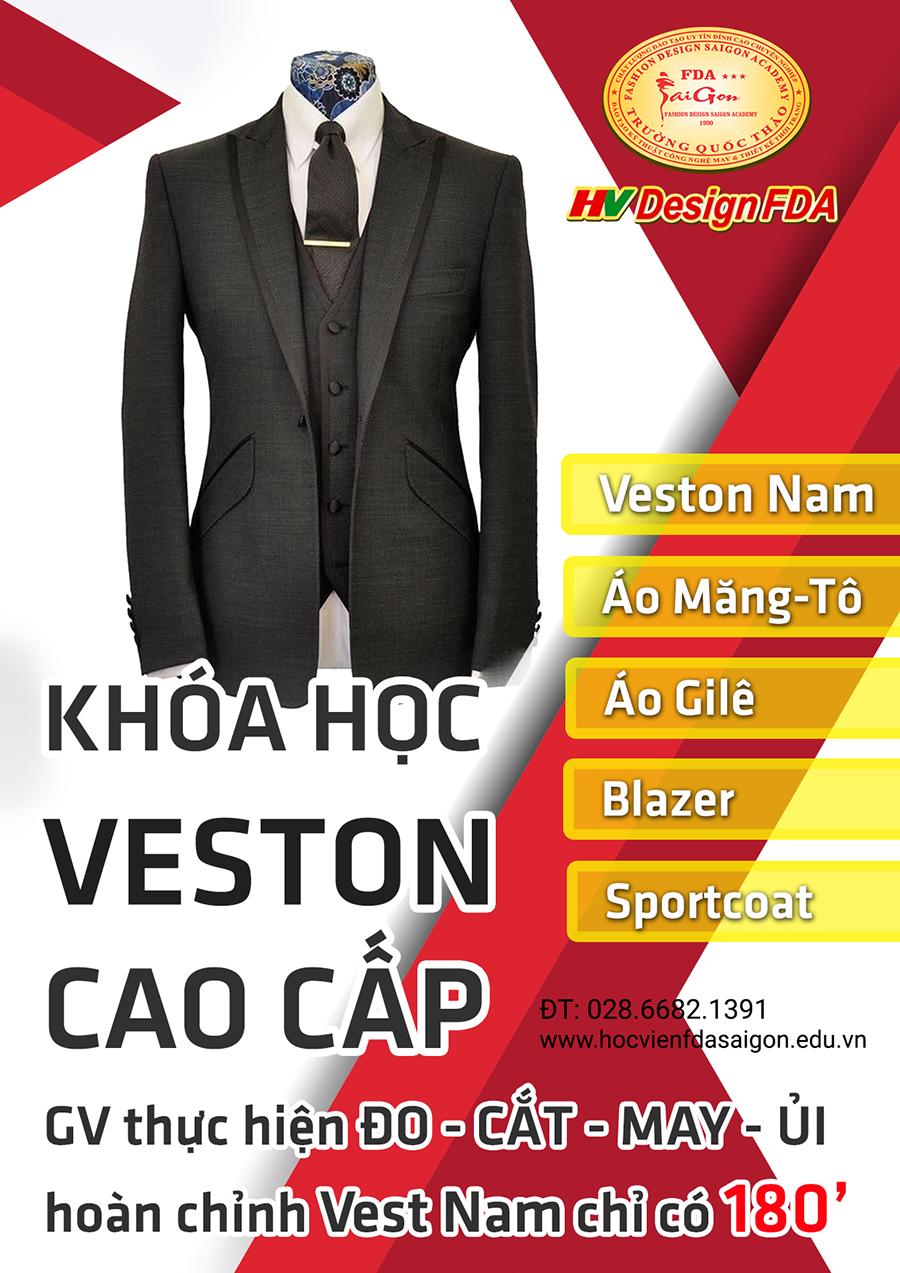 Dạy cắt may Veston Nam cao cấp