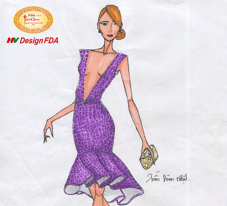 Một số bản vẽ Minh Họa Thời Trang của học viên khóa Thiết kế thời trang