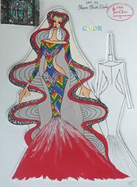 Những bản vẽ phác thảo của vòng chung kết The Color 2012