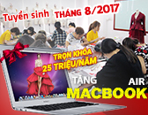 Tuyển sinh ngành thiết kế thời trang Tháng 8-2017 Tặng Macbook Air