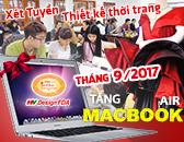 Tuyển sinh ngành thiết kế thời trang Tháng 09-2017 Tặng Macbook Air