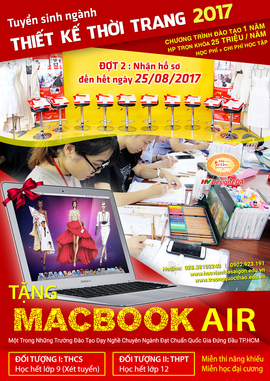 Tuyển sinh ngành thiết kế thời trang 2017 tặng macbook
