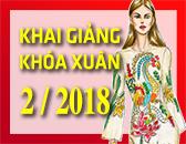 Lịch Khai Giảng các khóa học Thiết kế thời trang & Công nghệ may Tháng 2/2018