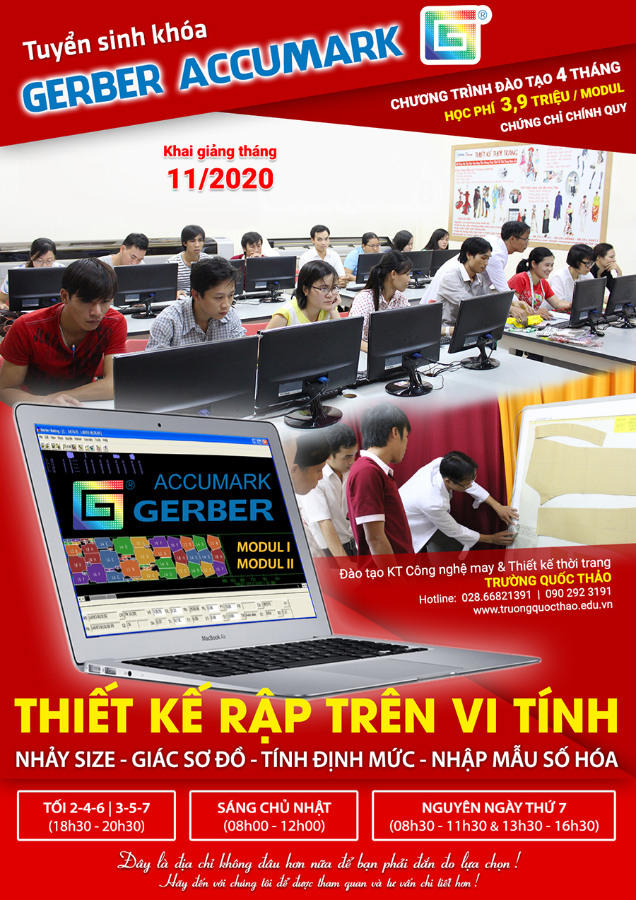 thiet ke rap nhay size so do vi tinh gerber accumark