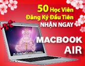 Lì Xì Tết Tặng Macbook Air cho 50 học viên đăng ký đầu tiên Mùng 10 Tết