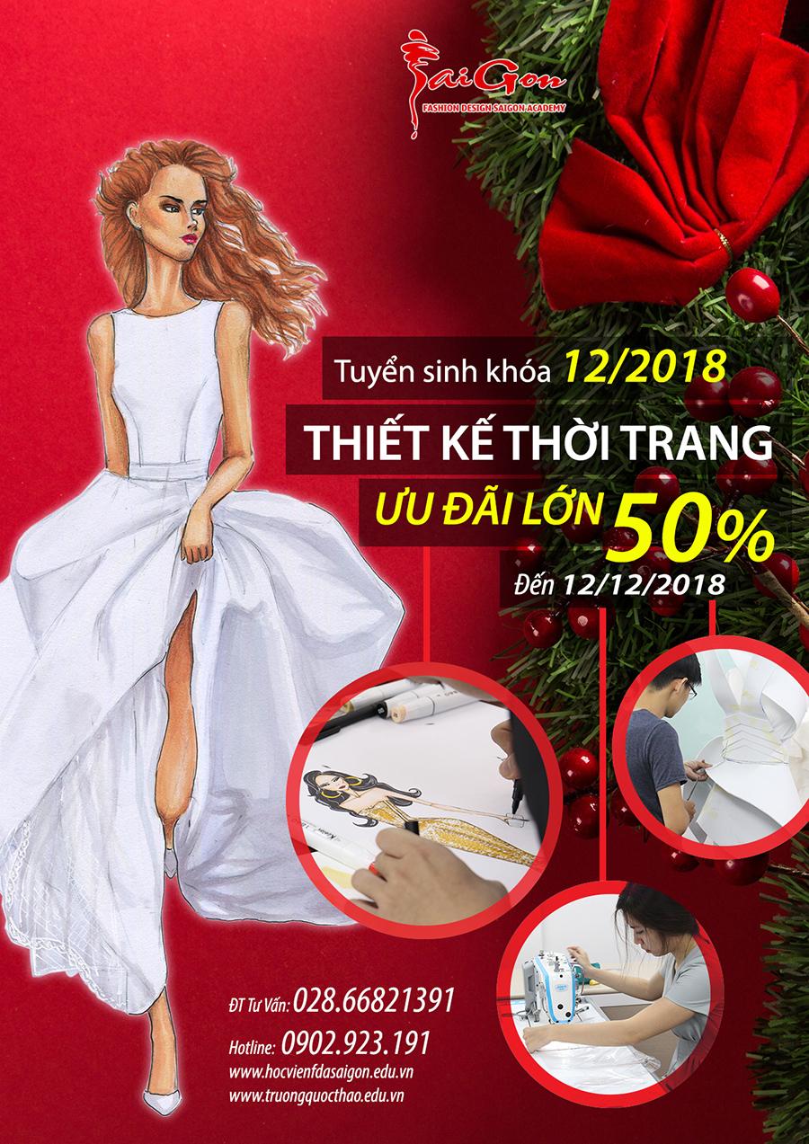 Hỗ trợ chi phí học tập ngành Thiết kế thời trang tháng 12/2018